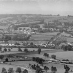 Black and white photo of Bannerdown, Batheaston viewed from Bathampton c.1937